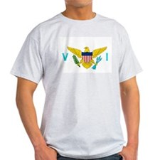 Virgin Islands Flag Grey T-Shirt
