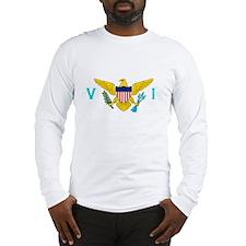 Virgin Islands Flag White Long-Sleeve Shirt