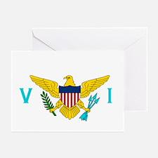 Virgin Islands Flag Greeting Cards (6)