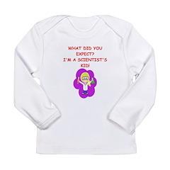 girl science Long Sleeve Infant T-Shirt