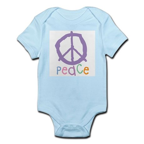 Child's Peace Sign Infant Creeper