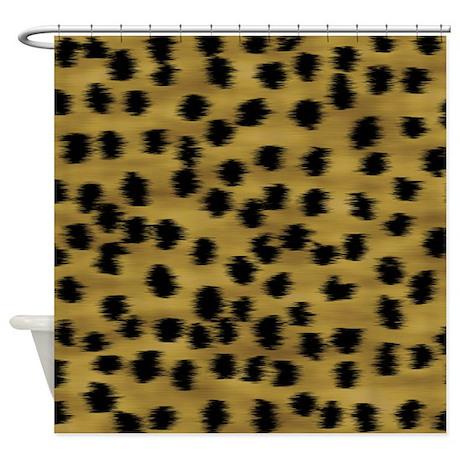 cheetah animal print pattern shower curtain by metarla