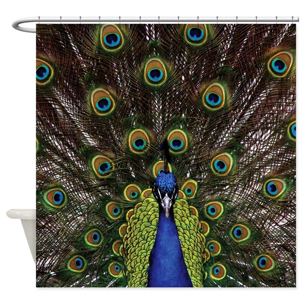 Peacock Shower Curtain By Expressivemind