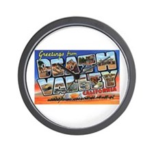 Death Valley Greetings Wall Clock