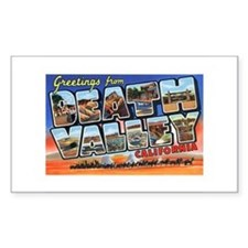 Death Valley Greetings Rectangle Decal