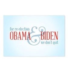 We Don't Quit Postcards (Package of 8)