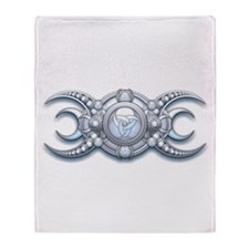 Ornate Wiccan Triple Goddess Throw Blanket
