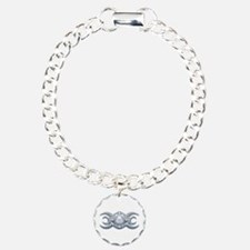 Ornate Wiccan Triple Goddess Bracelet