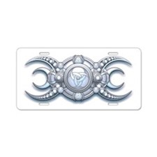 Ornate Wiccan Triple Goddess Aluminum License Plat