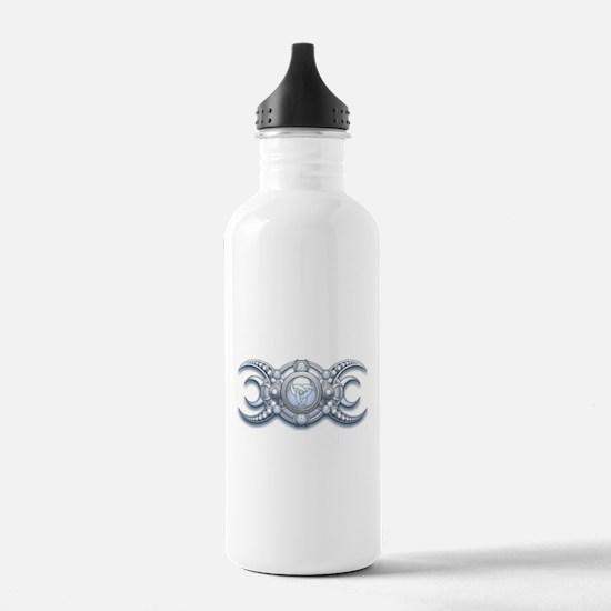 Ornate Wiccan Triple Goddess Water Bottle
