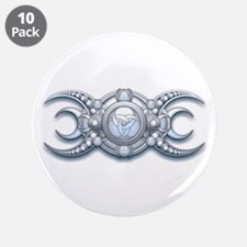 """Ornate Wiccan Triple Goddess 3.5"""" Button (10"""