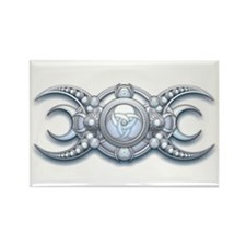 Ornate Wiccan Triple Goddess Rectangle Magnet