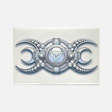 Ornate Wiccan Triple Goddess Rectangle Magnet (100