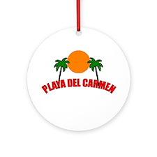 Unique Playa del carmen Ornament (Round)