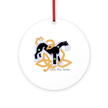 Celtic Kerry Blue Terrier Ornament (Round)