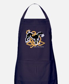 Celtic Kerry Blue Terrier Apron (dark)