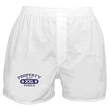 Poodle PROPERTY Boxer Shorts