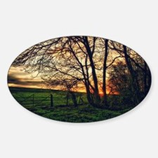 English Countryside Sunset HDR Decal