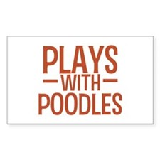 PLAYS Poodles Decal