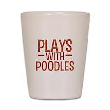 PLAYS Poodles Shot Glass