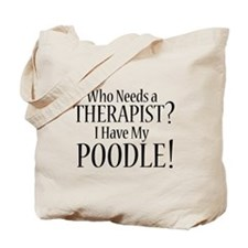 THERAPIST Poodle Tote Bag