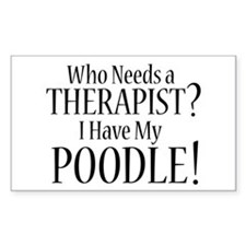THERAPIST Poodle Decal