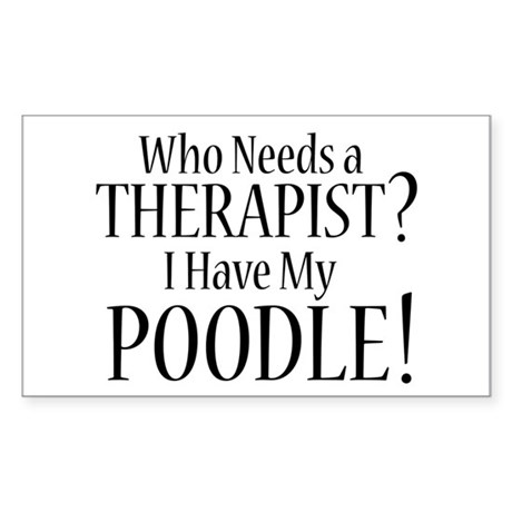 THERAPIST Poodle Sticker (Rectangle)