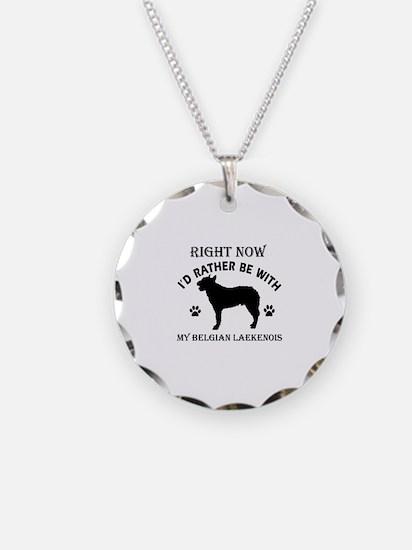 Belgian Laekenois Dog Breed Designs Necklace Circl
