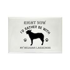 Belgian Laekenois Dog Breed Designs Rectangle Magn