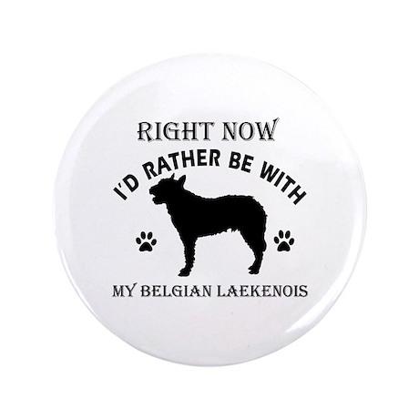 """Belgian Laekenois Dog Breed Designs 3.5"""" Button (1"""