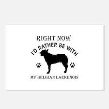 Belgian Laekenois Dog Breed Designs Postcards (Pac