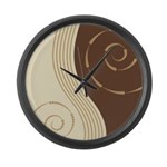 Trendy Abstract Large Wall Clock