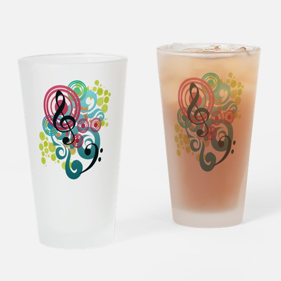 Music Swirl Drinking Glass