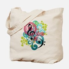 Music Swirl Tote Bag