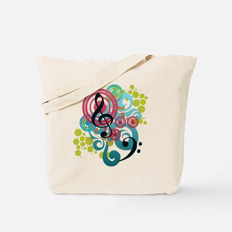 Music Swirl Tote Bag