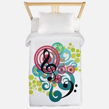 Music Swirl Twin Duvet