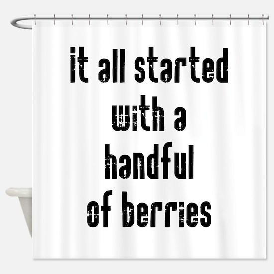 Handful of Berries Shower Curtain