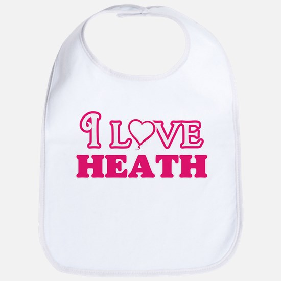 I Love Heath Baby Bib