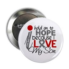 """I Hold On To Hope Brain Tumor 2.25"""" Button"""