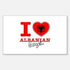 I love Albanian boys Decal