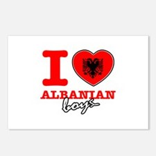 I love Albanian boys Postcards (Package of 8)
