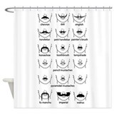 Mustache Shower Curtains