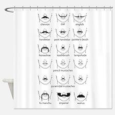 Cute Mustache Shower Curtain