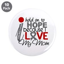 "I Hold On To Hope Brain Tumor 3.5"" Button (10 pack"