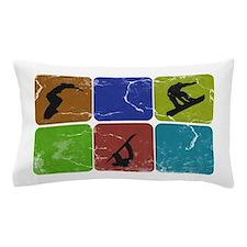 Snowboarding Vintage snowboarder Pillow Case