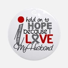 I Hold On To Hope Brain Tumor Ornament (Round)
