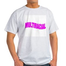 Multiracial Pride Ash Grey T-Shirt