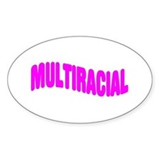 Multiracial Pride Oval Decal
