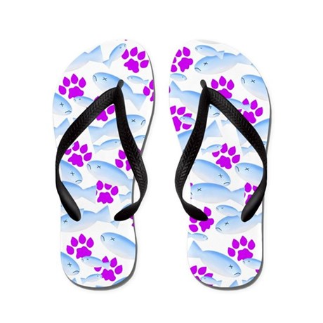 Cat paws and fish flip flops by flamincatdesigns for Fish flip flops