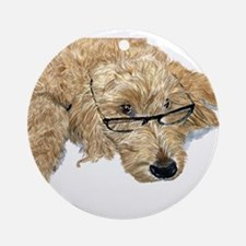 Goldendoodle Stella Round Ornament